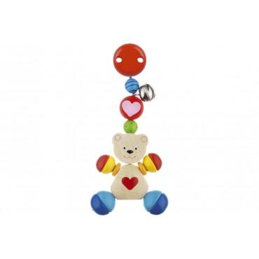 Clip Ours - Heimess - Trésors d'Enfance à Rodez-jeux-jouets-bébés-enfants-cadeau-hochet en bois-anneau de dentition-jeux d'éveil