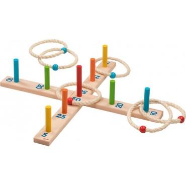 Jeu d'anneaux à lancer - Goki - Trésors d'Enfance à Rodez-jeux-jouets-bébés-enfants-cadeau-jeu d'adresse-jeu de société