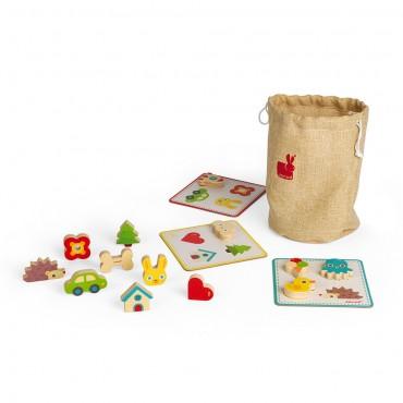 Jeu de reconnaissance Tactile - Janod - Trésors d'Enfance à Rodez-jeux-jouets
