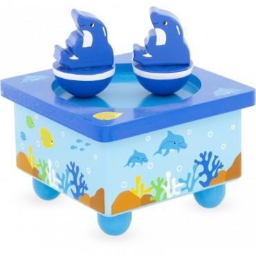 Boite à musique : Dauphin - Ulysse Couleurs d'Enfance - Trésors d'Enfance à Rodez-jeux-jouets-bébé-enfant-adeau-berceuse-mélodie