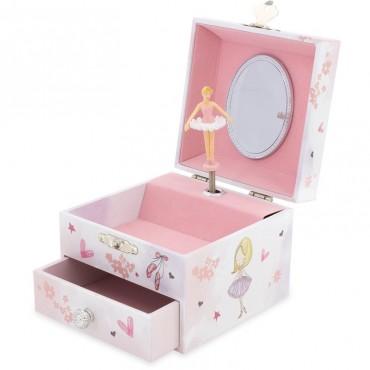 Coffret Bijoux : Chaussons de danse - Ulysse - Trésors d'Enfance Rodez-bébé-enfants-jeux-jouets-cadeau-boite à musique