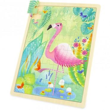 Puzzle Flamant Rose 36 pièces - Ulysse Couleurs d'enfance - Trésors d'Enfance à Rodez-jeux-jouets-bébés-enfants-cadeau