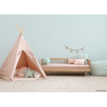 Tipi Phoenix White Bubble Misty Pink-Nobodinoz-Trésors d'Enfance à Rodez-jeux-jouets