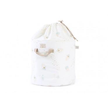 Sac à Jouets Bamboo Aqua Eclipse White - Nobodinoz - Trésors d'Enfance à Rodez-jeux-jouets-enfants-bébés