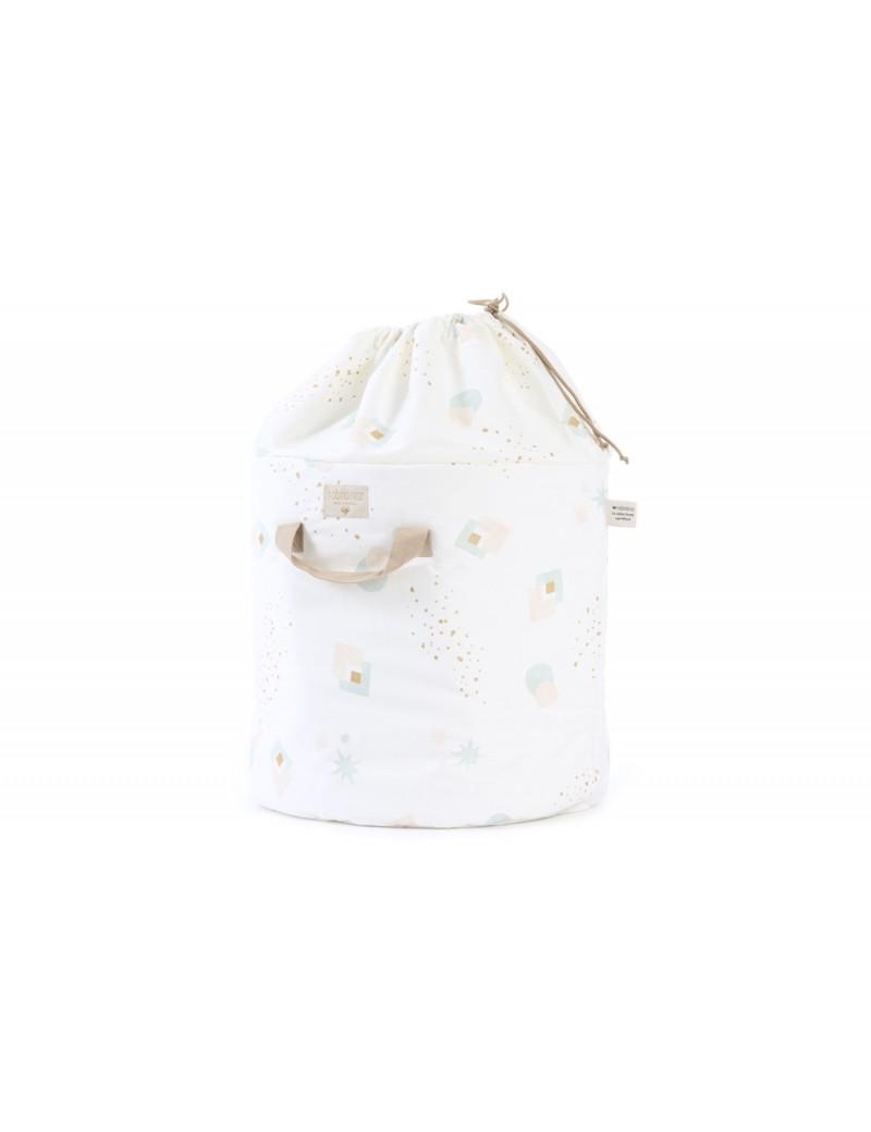 Tapis D Éveil Sac A Jouets sac à jouets bamboo aqua eclipse white - nobodinoz - trésors d'enfance à  rodez