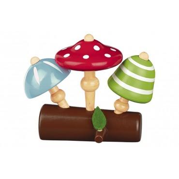 3 Toupies Champignons en Bois - Trésors d'Enfance à Rodez-jeux-jouets