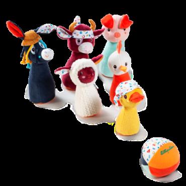 Jeu de quilles Ferme - Lillipuciens - Trésors d'Enfance à Rodez-jeux-jouets-cadeau
