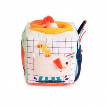 Cube sonore d'activités Ferme - Lillipuciens - Trésors d'Enfance à Rodez-jeux-jouets