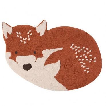 Tapis coton Little Wolf - Nattiot - Trésors d'Enfance à Rodez-décoration-enfants-bébés