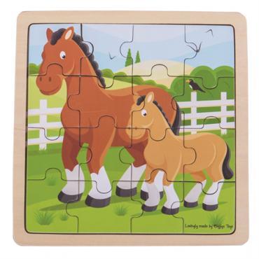 Puzzle cheval en bois 16 pièces - Bigjigs - Trésors d'Enfance à Rodez-jeux-jouets-cadeau-enfants-bébés-puzzle en bois-
