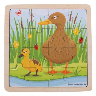 Puzzle canard en bois 16...