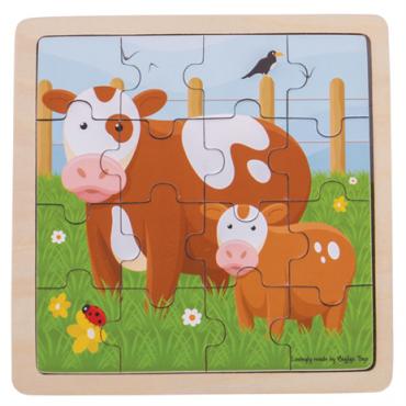 Puzzle vache en bois 16...