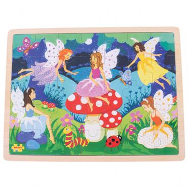 Puzzle fées en bois 35 pièces - Bigjigs - Trésors d'Enfance à Rodez-jeux-jouets-cadeau-enfants-puzzle 3 ans