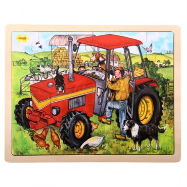 Puzzle ferme en bois 24 pièces - Bigjigs - Trésors d'Enfance à Rodez-jeux-jouets-cadeau-enfants-puzzle 3 ans