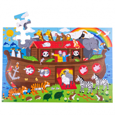Puzzle Arche de Noé 48 pièces - Bigjigs - Trésors d'Enfance à Rodez - cadeau-jeux-jouets-enfants