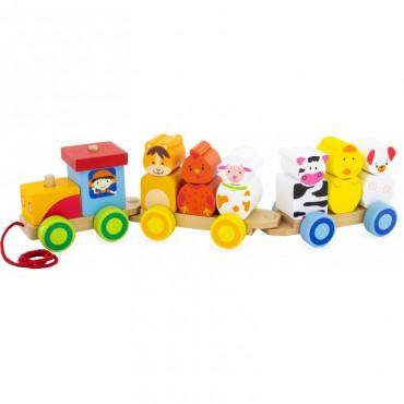 Le petit train des animaux - Ulysse Couleurs d'enfance - Trésors d'Enfance à Rodez-jeux-jouets-bébé-enfant