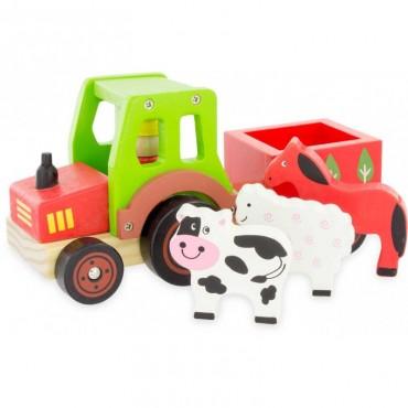 Tracteur transport d'animaux en bois - Ulysse - Trésors d'Enfance à Rodez-jouet-jeu-bébé-enfant