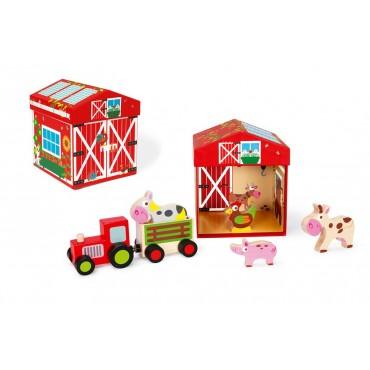Boîte à Jouets Ferme 2 en 1 - Scratch - Trésors d'Enfance à Rodez-jeux-jouets