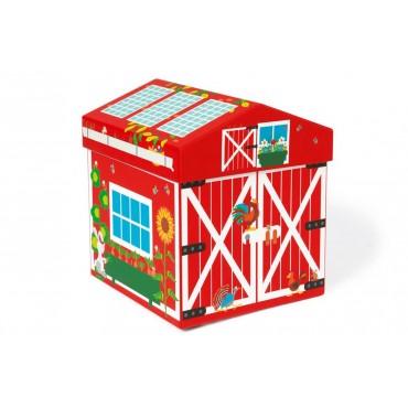 Boîte à Jouets Ferme 2 en 1 - Scratch - Trésors d'Enfance à Rodez-cadeau-ferme
