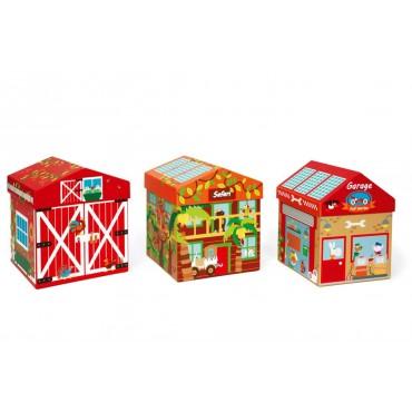Boîte à Jouets Ferme 2 en 1 - Scratch - Trésors d'Enfance à Rodez