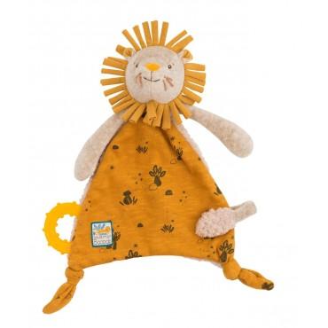 Doudou attache-tétine Lion Sous mon baobab - Moulin Roty-jeu-jouet