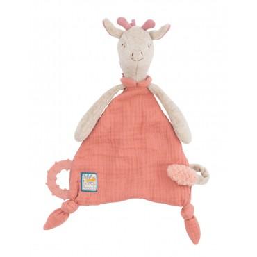 Doudou attache-tétine girafe Sous mon baobab - Moulin Roty-jeux-jouets