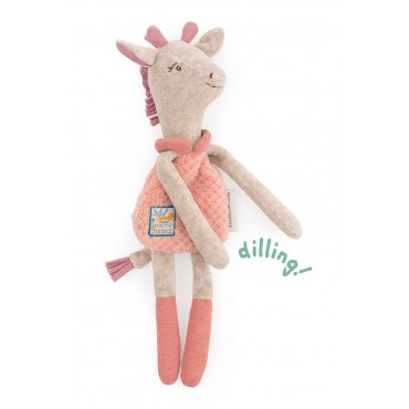 Doudou hochet Girafe Sous mon baobab - Moulin Roty-jeu-jouet