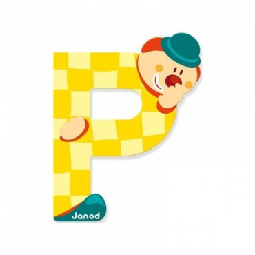 Lettre Clown P - Janod
