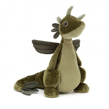 Peluche Dragon Olive -...