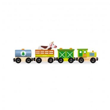 Train Ferme Story en bois -...