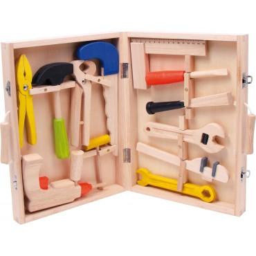 Boîte à outils en bois -...