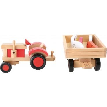 Tracteur en bois avec...