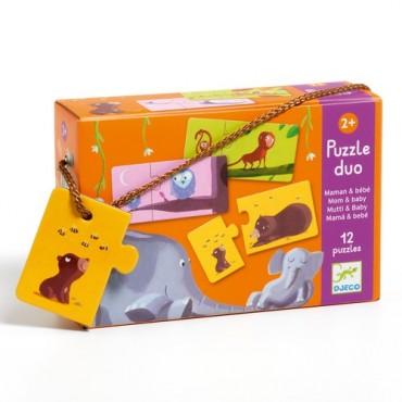 Puzzle Duo : Maman Bébé -...