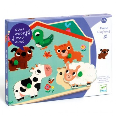 Puzzle sonore : Ouaf Woof -...