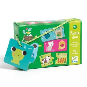 Puzzle Duo : Habitat - Djeco