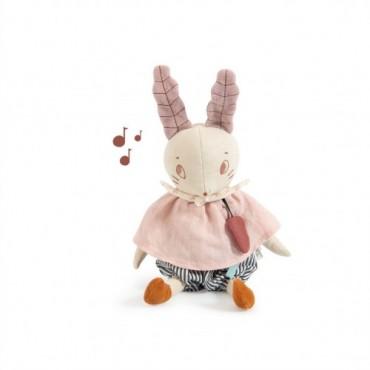 Poupée musicale lapin -...
