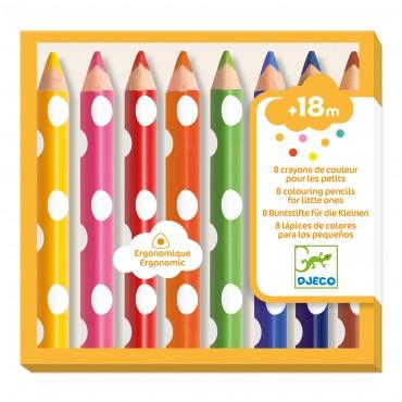 8 crayons de couleur pour...