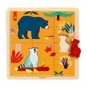 Puzzle 15 pièces 2 ans : Canada - Djeco - Trésors d'Enfance à Rodez