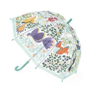 Parapluie : Fleurs et Oiseaux - Djeco - Trésors d'Enfance à rodez