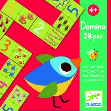 Domino : Un deux trois - Djeco - Trésors d'Enfance à Rodez