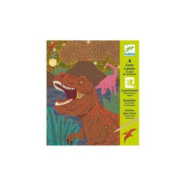 Cartes à gratter : Le règne des dinosaures - Djeco Trésors d'Enfance à Rodez