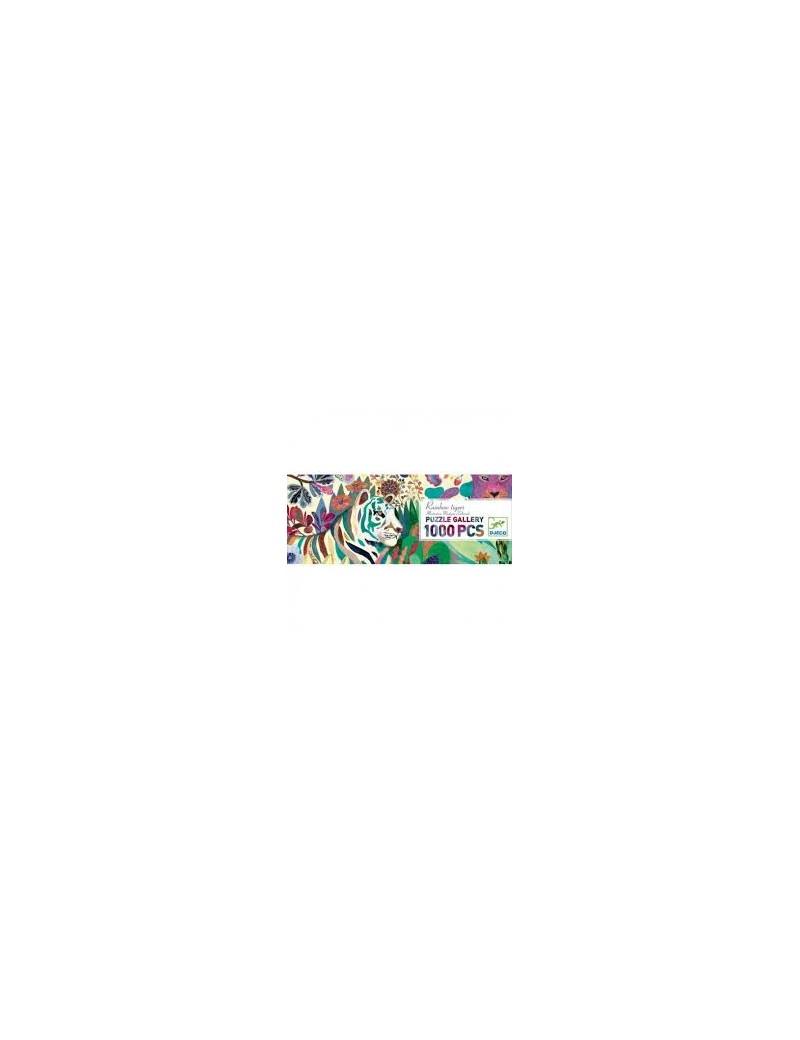 Puzzle 1000 pièces : Rainbow tigers - Djeco - Trésors d'Enfance à Rodez
