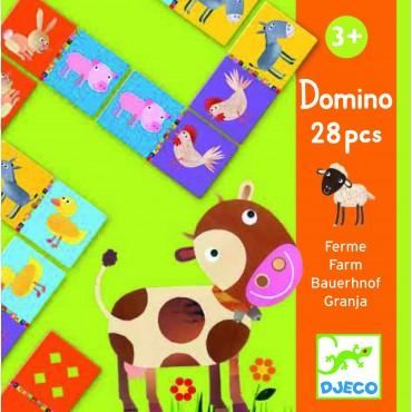 Domino de la Ferme - Djeco - Trésors d'Enfance à Rodez
