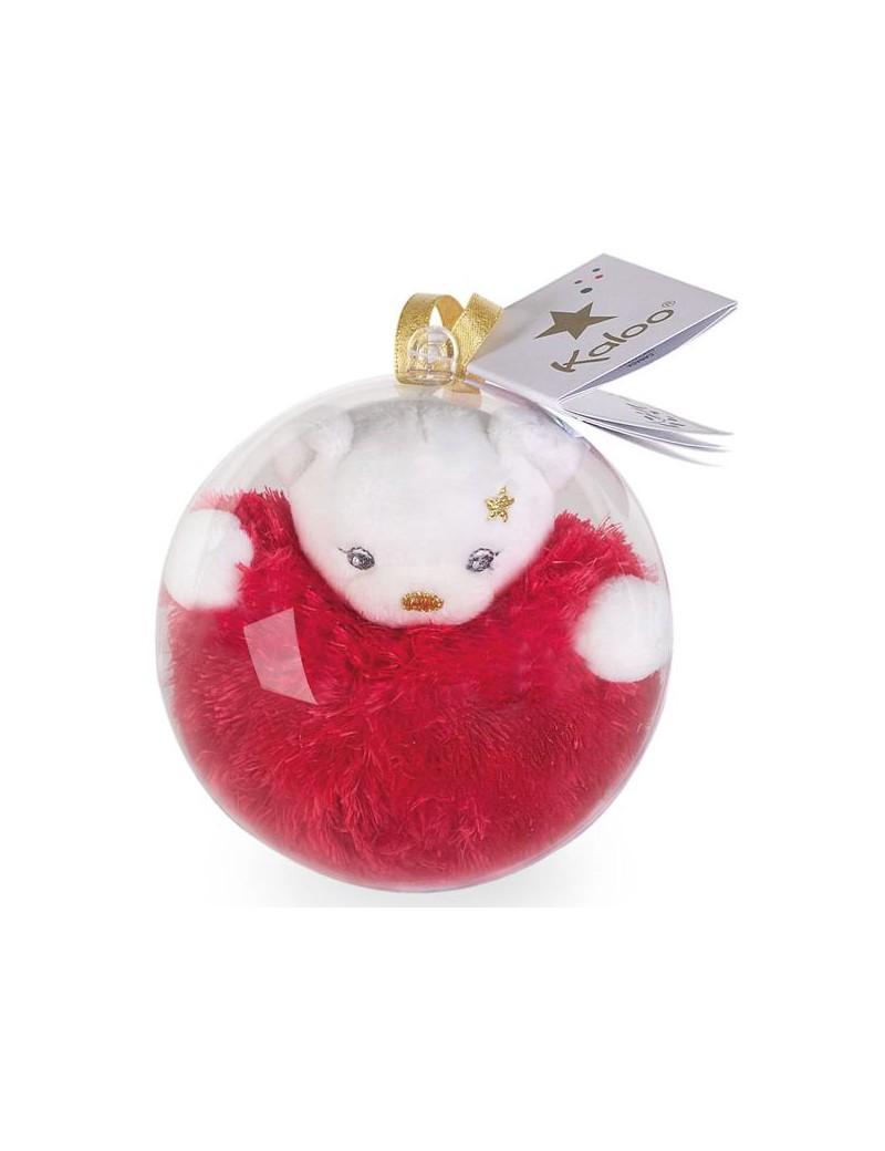 Boule de Noël : Mini Ours doré   Kaloo   Trésors d'Enfance à Rodez