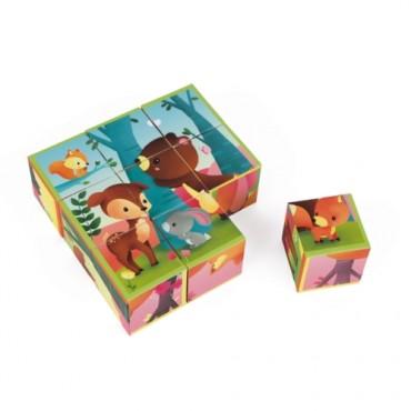Kubkid : 9 Cubes animaux de la Forêt - Janod - Trésors d'Enfance à Rodez