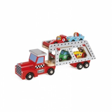 Camion Transporteur 4 voitures - Janod - Trésors d'Enfance à Rodez