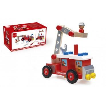 Camion de pompier à construire - Scratch - Trésors d'Enfance à Rodez