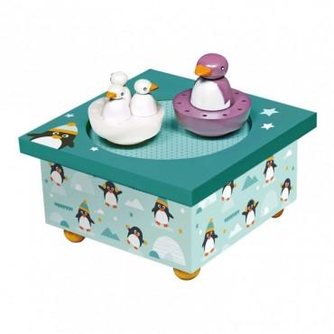 Boîte à Musique Magnétique : Pingouins - Trousselier - Trésors d'Enfance à Rodez