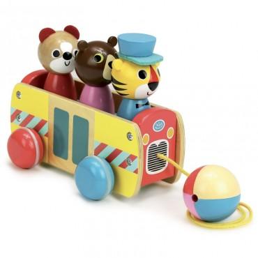 Bus à tirer par Ingela P. Arrhenius - Vilac - Trésors d'Enfance à Rodez
