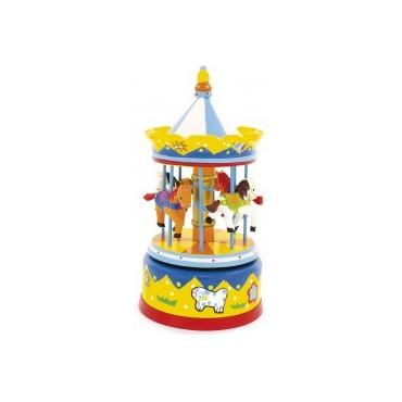 Carrousel : Jaune - Ulysse Couleurs d'Enfance - Trésors d'Enfance à Rodez-bébé-enfant-cadeau-naissance-mélodie-berceuse